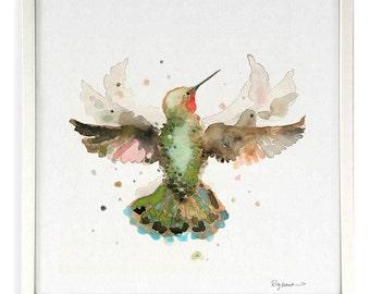 Hummingbird in Flight––from the Oscillation Series