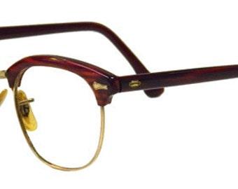Vintage 1950s Amber Cat Eye Eyeglass by DecadesVintageOnEtsy