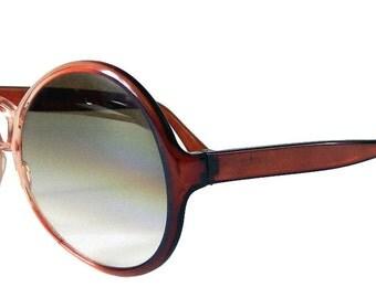 Vintage 1970s Italian Fashion Oversize Sunglasses Never Worn