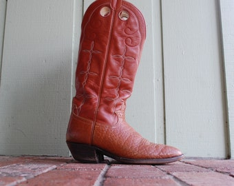 Vintage Mens 12 D Hondo Boots El Paso Texas Quality Classic Country Western Southwestern Tall Pull On Cowboy Boots Boot Moto Motorcycle Boho