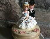 Josef Originals Bride & Groom Musical Bridal March Vintage Figurine - #A2400