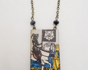 Tarot Card Necklace Death