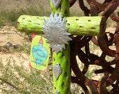 DO NOT Buy RESERVED - Cholla Wood Cross - Sacred works of the High Desert - MilagrO - Original Art / Cathy DeLeRee
