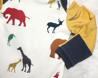 Zoo Crew Baby gown pajamas Newborn 3m 6m