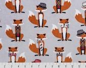 1 Yd Minky RKC Nifty Fox Cuddle® Steel (Shannon Fabrics) Yardage