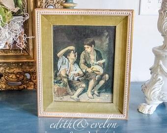 SALE!! 50% OFF!! Vintage Art Print, Esteban Murillo, Boys