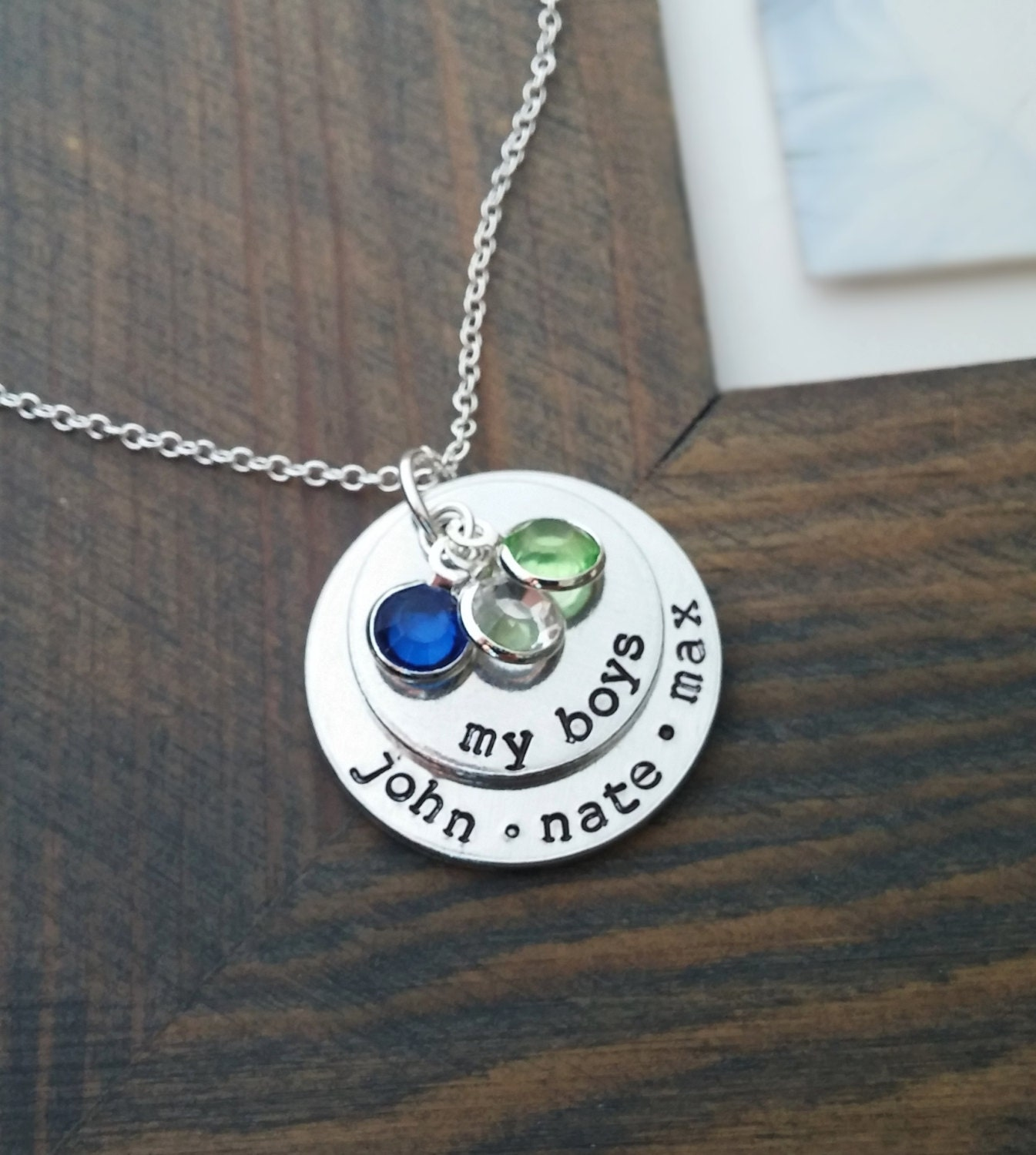 my boys necklace personalized family necklace with