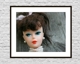 Doll Face, Doll Art Print, Fashion Doll Photograph, Instant Download, Girl's Room Decor, Wall Art, Girl's Bedroom Decor Art, 8x10 Photo