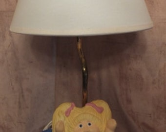Cabbage Patch Kids Lamp With Shade 1983