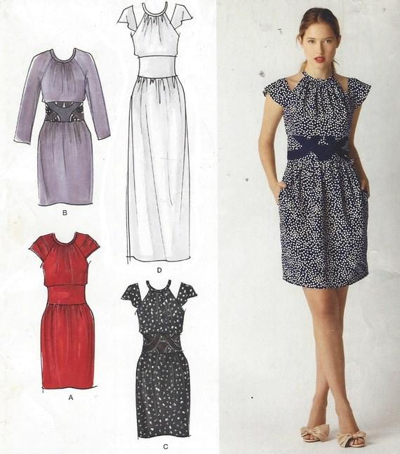 Cynthia Rowley Sewing Patterns: Cynthia Rowley Womens Mini Or Maxi Dress OOP Simplicity Sewing