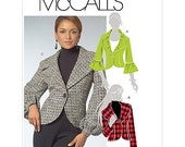 McCall's Pattern M5527 Misses' Lined Suit Jackets Sizes 12-20 NEW