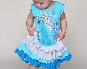 in stock ready to ship ruffled Elsa dress