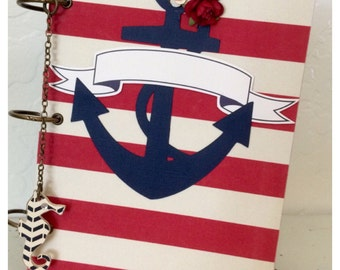 Nautical Monthly Planner and Address Book with Pocket Dividers