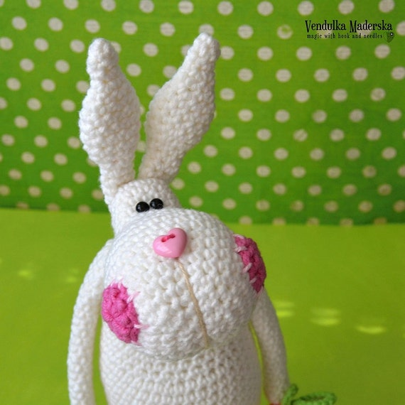 Crochet pattern - Easter bunny by VendulkaM, amigurumi, crochet toy/digital pattern, DIY, pdf