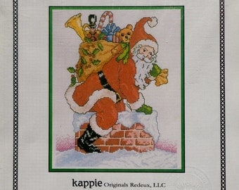 Kappie Originals   UP ON The ROOFTOP   The Santa Claus Collection    Counted Cross Stitch Chart