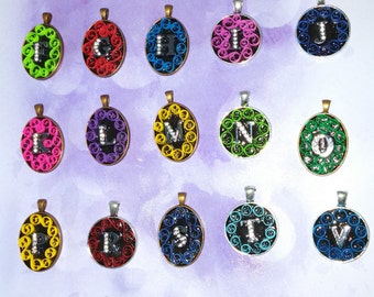 Quilled Letter Pendants  (Pick Your Initial)