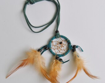 Turquoise Leather Dreamcatcher