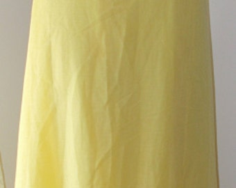 Dotted Swiss Dress Yellow White Dots Long Ankle Length Lace Insert JC Penneys