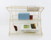Vintage French Wire Dish Draining Rack Storage
