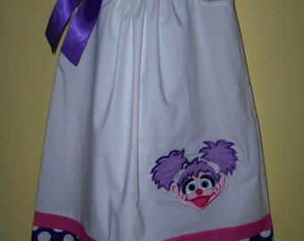 Abby Cadabby Pillowcase Dress / 123 Sesame Street / Big Bird / Purple / Newborn / Infant / Baby / Girl / Toddler / Custom Boutique Clothing