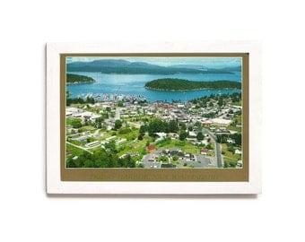 Friday Harbor Washington Postcard • San Juan Island WA • Washington State Tourism • Waterway Photo • Vacation Memories • Vintage Wall Art