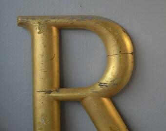 Antique Sign Letter R