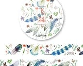 Feather Washi Tape (25mm X 7M)