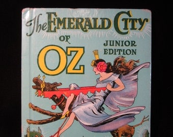 Vintage 1939 Revised of Original 1938 The Emerald City of Oz by L. Frank Baum