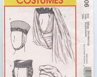 McCalls 4806 Medieval & Renaissance Hat Pattern Misses Sm, Med, Large UNCUT