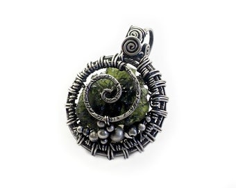 Moldavite free style handcrafted jewelry, 925 sterling silver Natural Moldavite