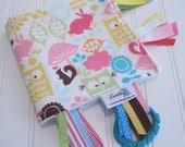 Sensory Ribbon Blanket,Lovey,Tag Blanket/Forest Life/Organic Cotton Fleece