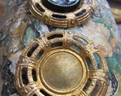4 Vintage Brass Setting Finding