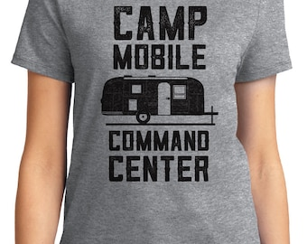 Camp Mobile Command Center Camping Outdoors Unisex & Women's T-shirt Short Sleeve 100% Cotton S-2XL Great Gift (T-CA-12)