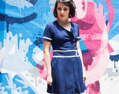 Vintage Navy School Style Dress