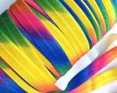 "5/8"" Super Happy Rainbow Colours FOE"
