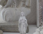 SEAWASHED MADONNA Immaculate Heart Of Mary Small Statue Jeanne D Arc Living French Nordic Shabby Chic Quiet Living