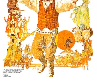 "Fiddler on the Roof - Movie Musical Poster Print - Home Theater Media room decor - 13""x19"" or 24""x36"" - Broadway Musical - Jerome Robbins"