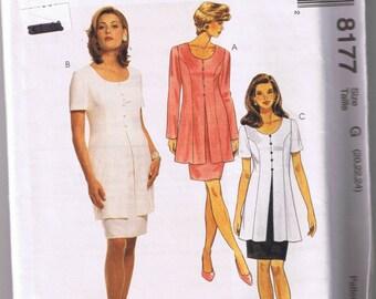 McCall's 8177 Misses' Mock Dress - Sizes 20, 22, 24 - UNCUT Factory Folded