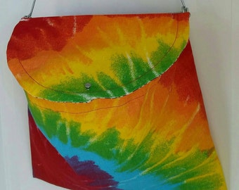 Tie Dye Lidded Clothespin Bag