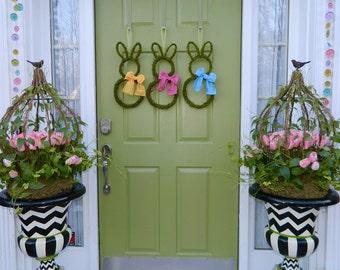 Moss Bunny Wreath - Mini Small Easter Bunny Wreath