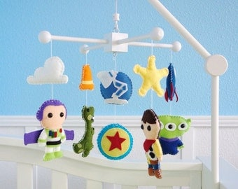 Toy Story Baby Mobile, Baby Crib Mobile, Woody, Buzz, Nursery Inspired by Disney Toy Story Movie Mobile, Nursery Decor, Attach. NOT included