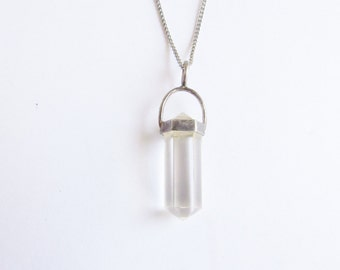 Quartz Rod Sterling Silver Mini Point Vintage Necklace