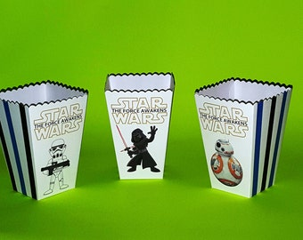 Star Wars Popcorn Boxes - Force Awakens Snack Boxes - Mini Favor Boxes