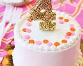 Sparkling Number Cake Topper
