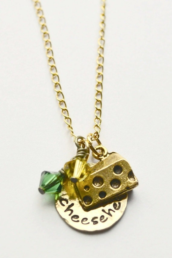 cheesehead necklace packer necklace green by lauriginaldesigns