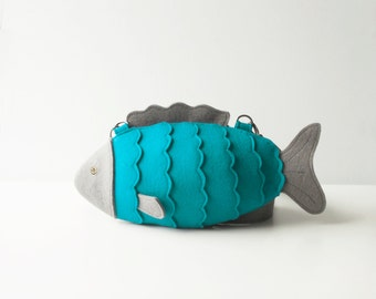 Small Fish Purse Mint Fish Bag