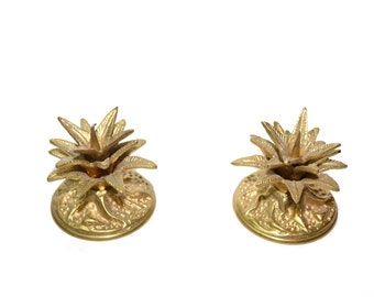 Fritz Brass Pineapple Candle Holders Pineapple Candlesticks Pillar Candle Holder Wedding Candle Holders