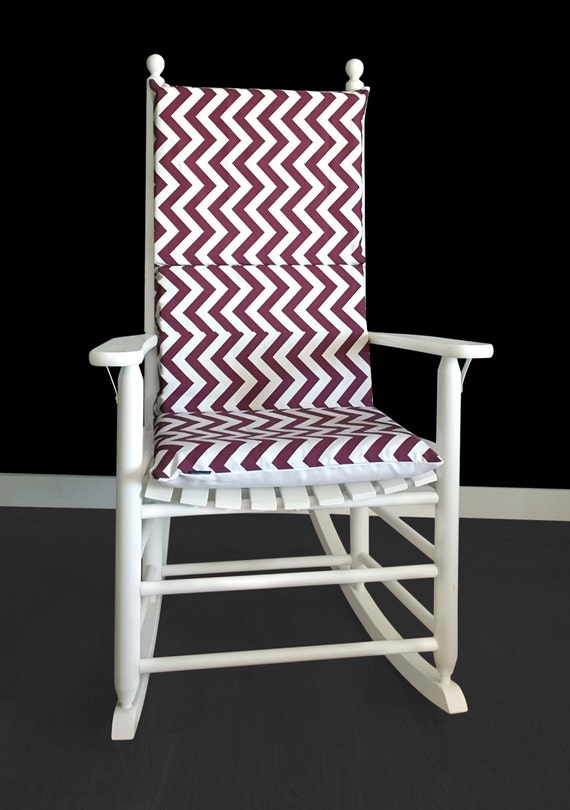 Ikea chair covers poang - Maroon Chevron Rocking Chair Cover Zig Zag Seat Covers