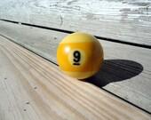 Vintage Billiard Ball - Number 9 ( nine ) Pool Table Ball - Great for Birthdays and Anniversaries