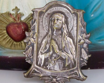 Stunning Early 1900's Petite Virgin MARY HAUSALTAR Reliquary- Rare and OOAK